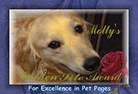 Molly's Golden Site Award